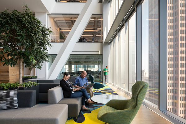 Comcast Technology Center - Interior workspace Nigel Young