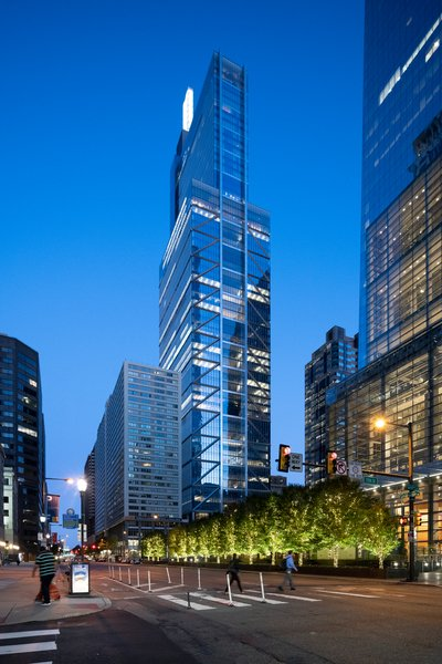 Comcast Technology Center - Exterior Height, night Nigel Young