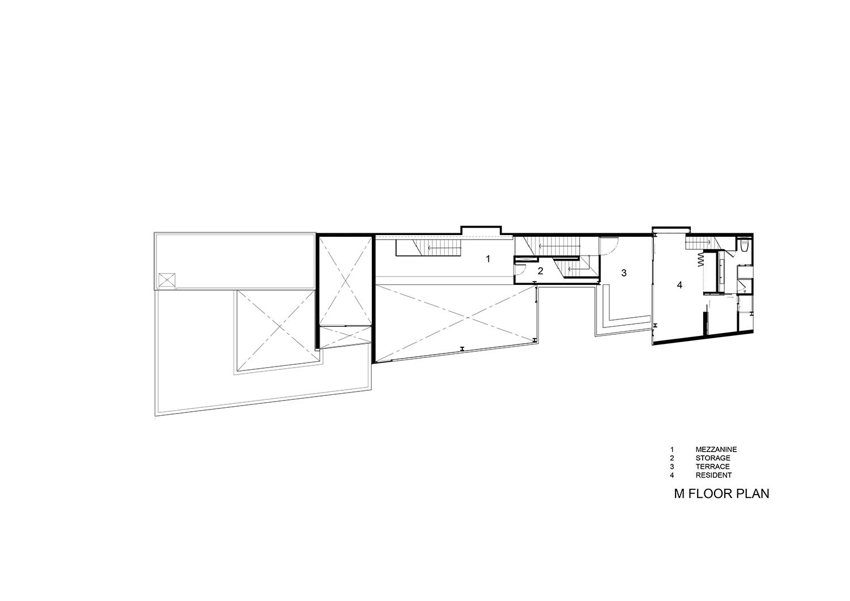 Mezzanine floor plan IDIN Architects}