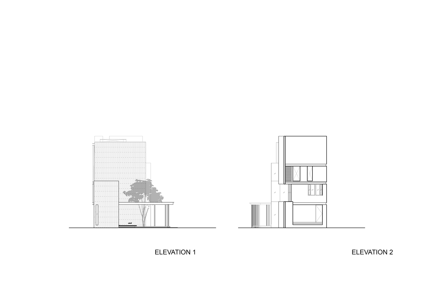Front and back elevations IDIN Architects}