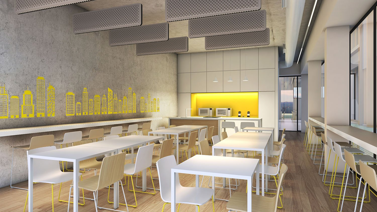 Rendering canteen Progetto CMR}