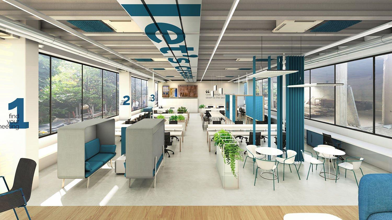 Rendering ground floor Progetto CMR}