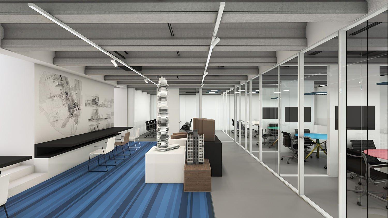 Rendering meeting rooms Progetto CMR}
