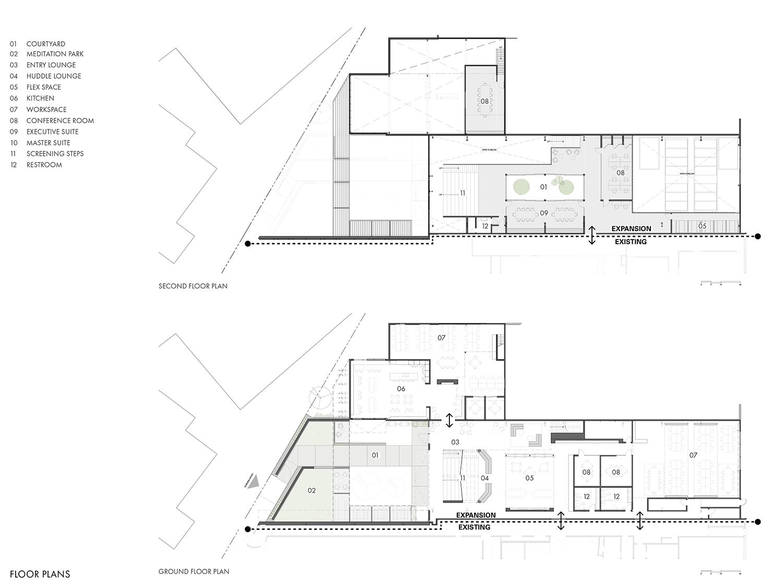 Floor plans Montalba Architects}