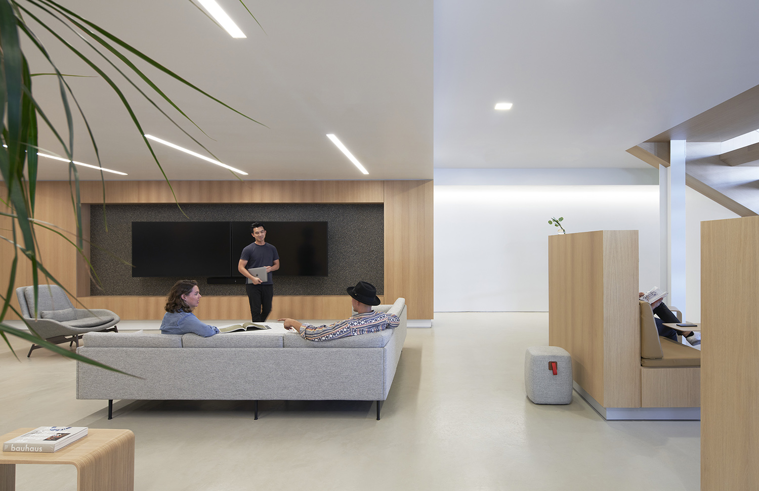 Open spaces with loose furniture encourage casual conversations. Kevin Scott