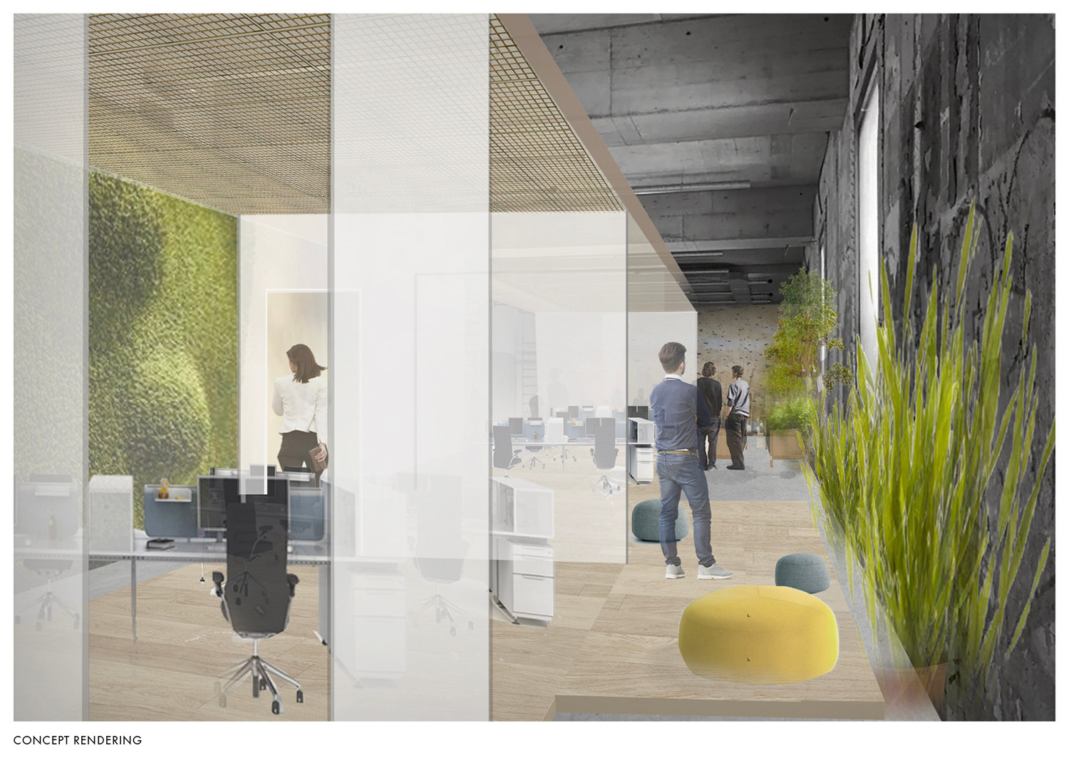 Concept rendering of continuous walkway Montalba Architects}