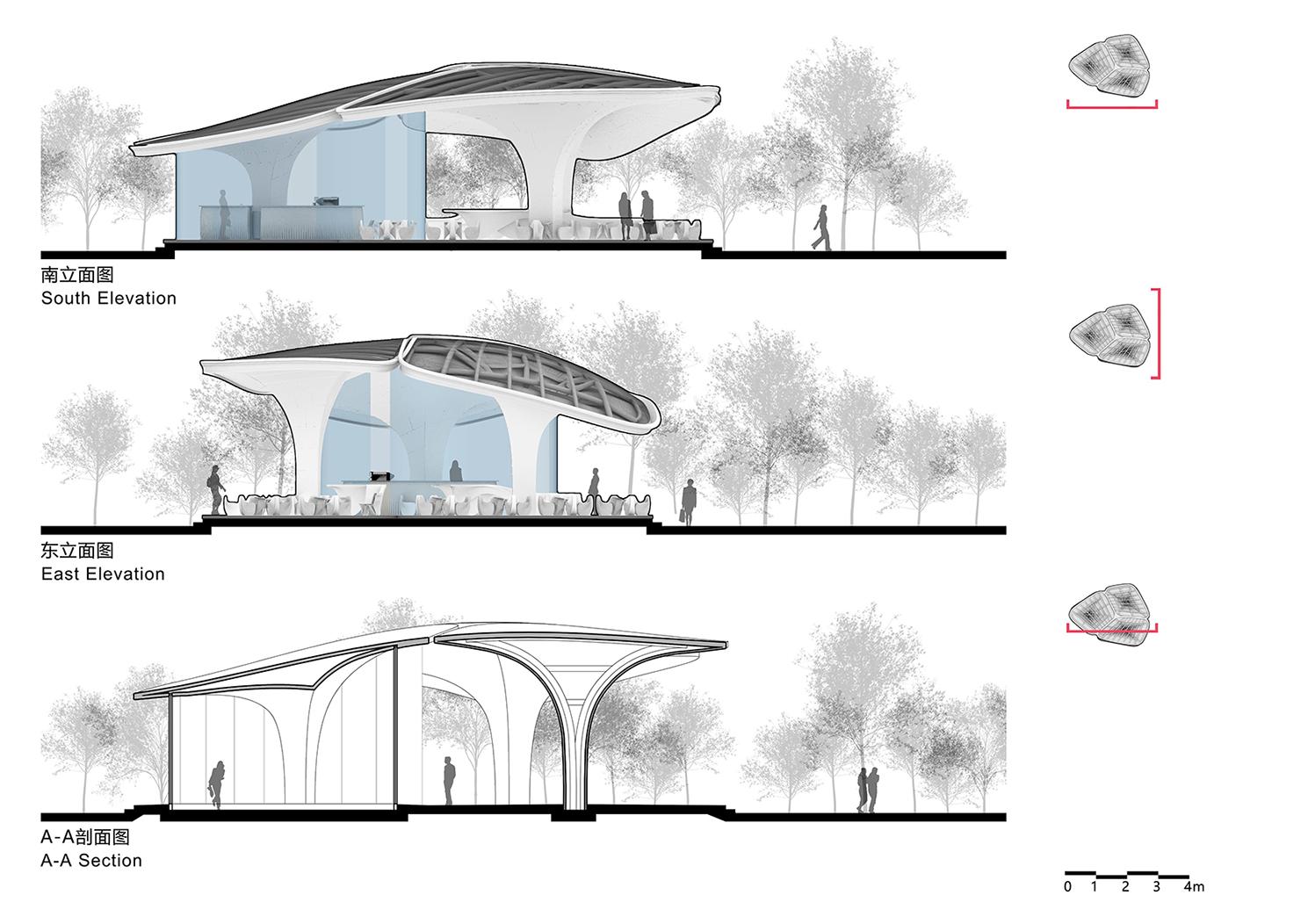 Cloud Pavilion Facade&Section Archi-Union & Fab-Union}