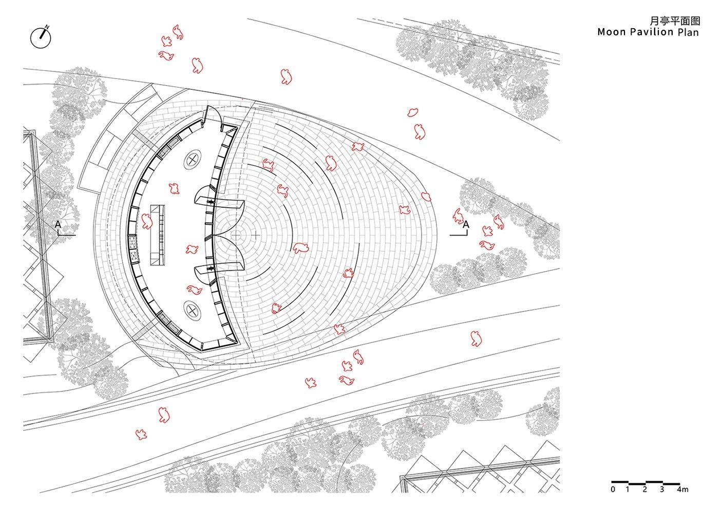 Moon Pavilion Plan Archi-Union & Fab-Union}