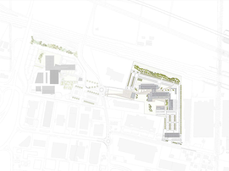 HEADQUARTER CHIESI_la cittadella aziendale e il rapporto con il sito EFA studio di architettura}