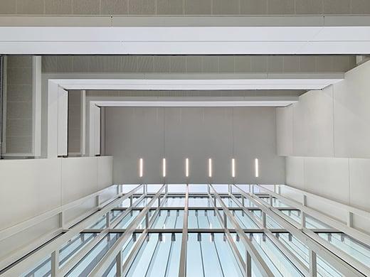 the entrance hall seen from the inside EFA studio di architettura _ Photo
