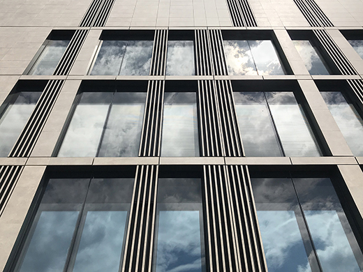 Detail of the stone facade EFA studio di architettura _ Photo
