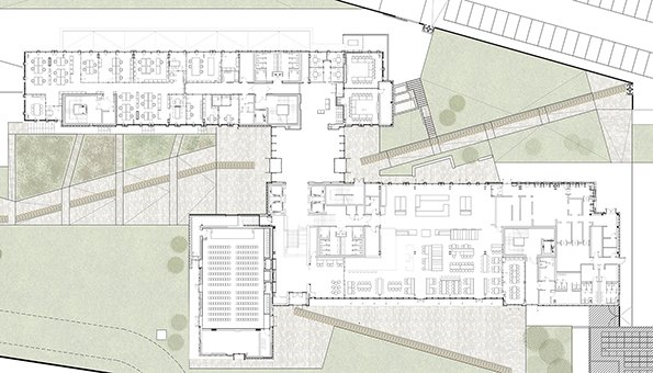 Ground floor plan EFA studio di architettura _ Photo