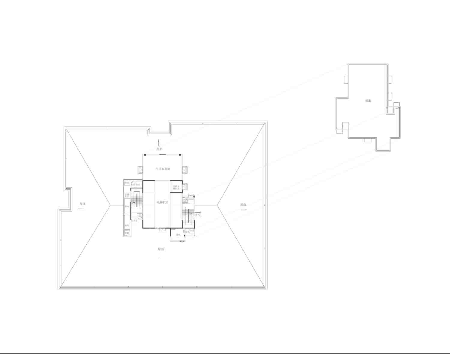 A1 Roof floor plan Own the copyright}