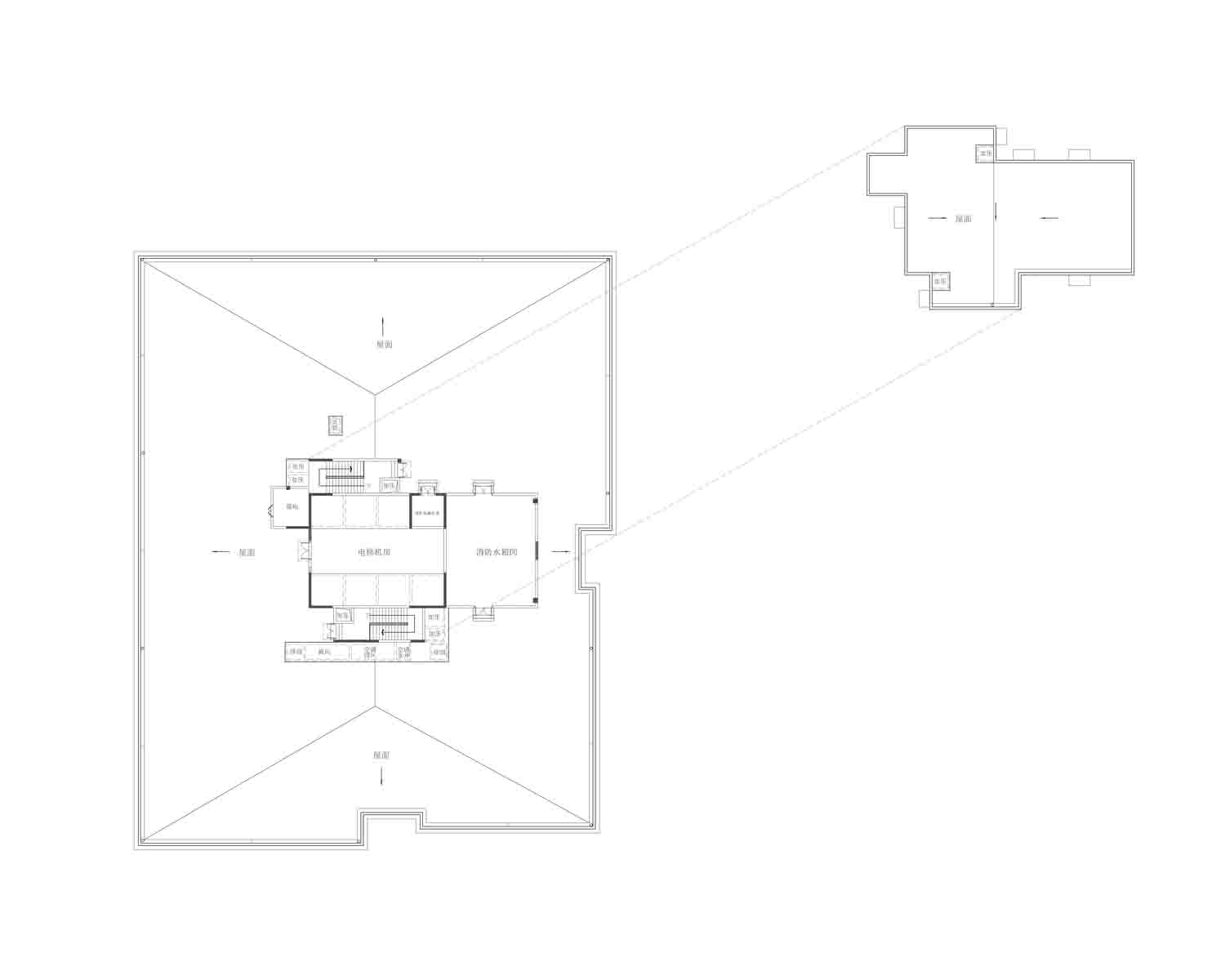 A2 Roof floor plan Own the copyright}