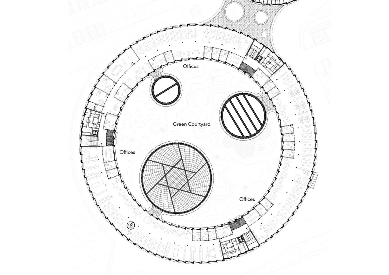 Floor Plan Offices First Floor - Inner Courtyard Dietrich | Untertrifaller Architekten ZT GmbH}
