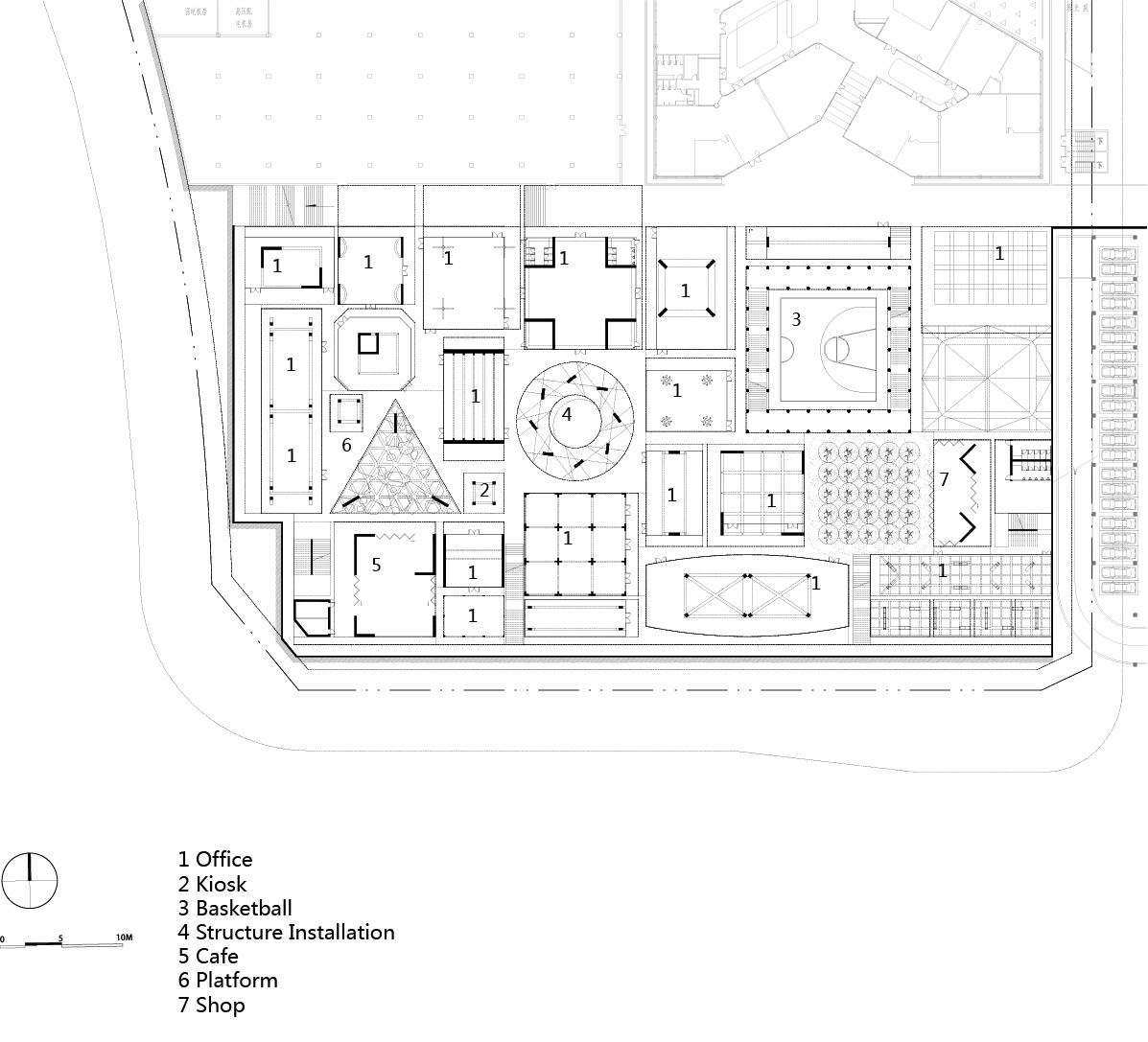 Plot B4, Vanke Design Commune Plot B4, Vanke Design Commune-  B1 plan©NODE}