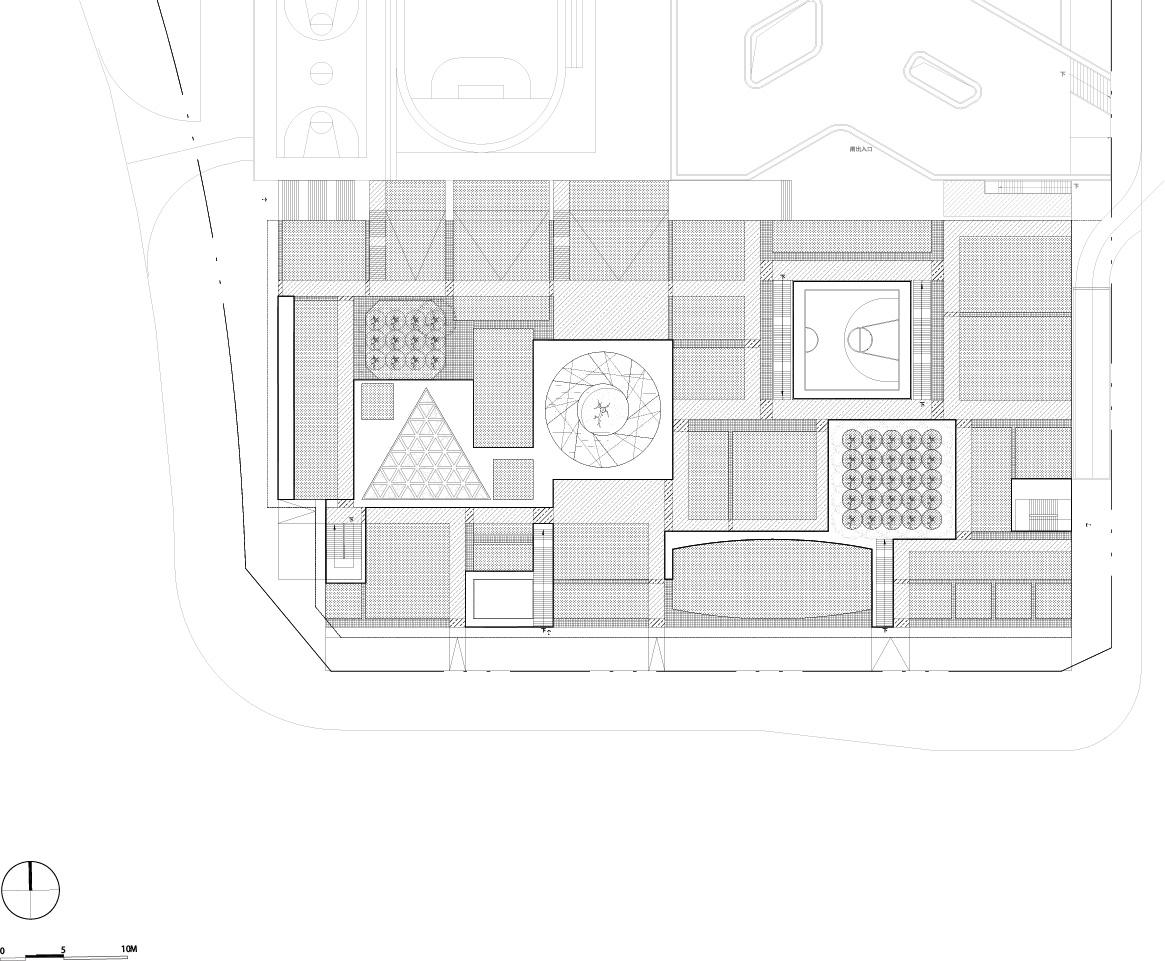 Plot B4, Vanke Design Commune Plot B4, Vanke Design Commune- roof plan ©NODE}