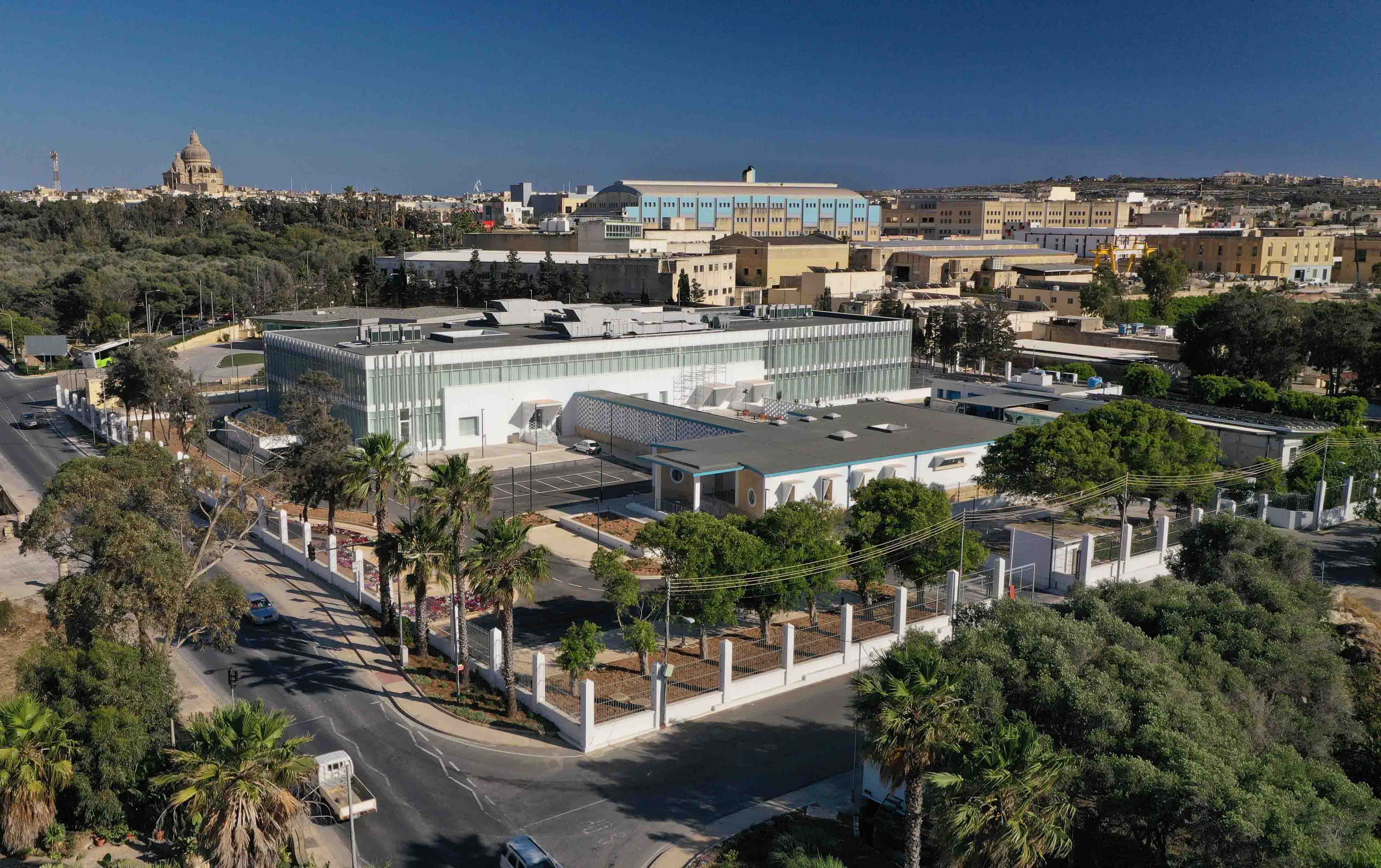 Aerial view Malta Industrial Parks