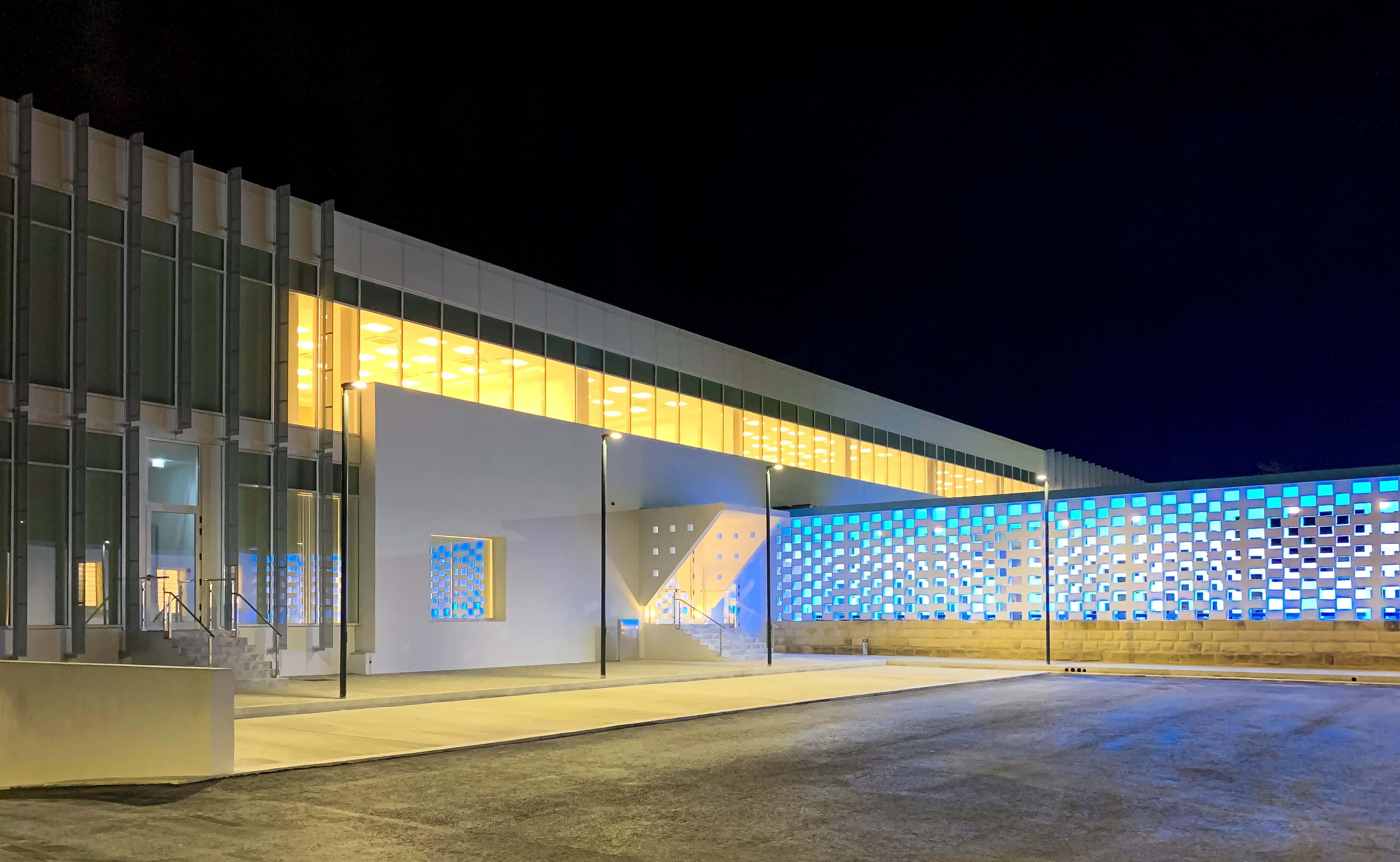 Business centre at night Kurt Borg Coppini