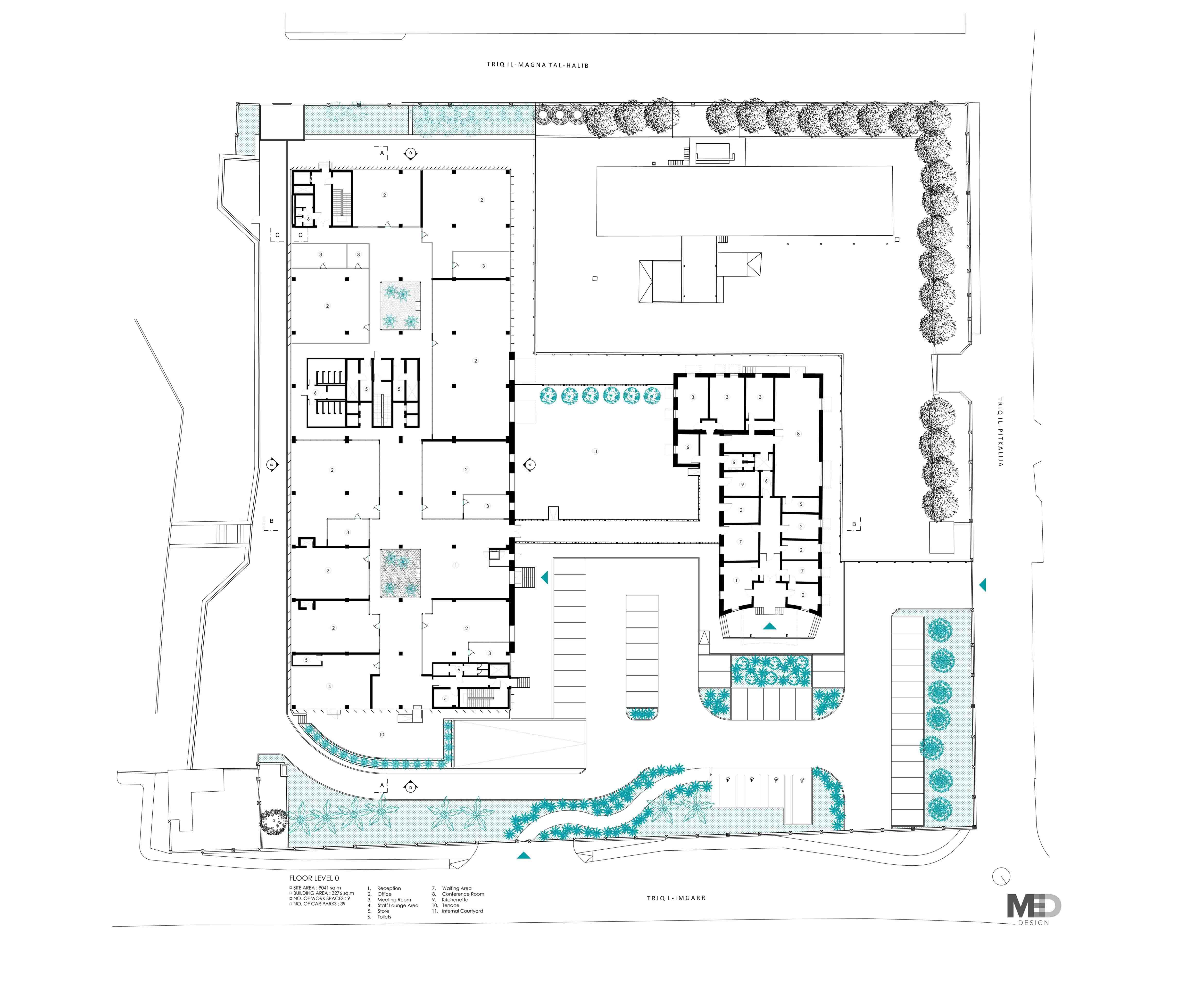 Ground Floor Plan Claudia Gallo}