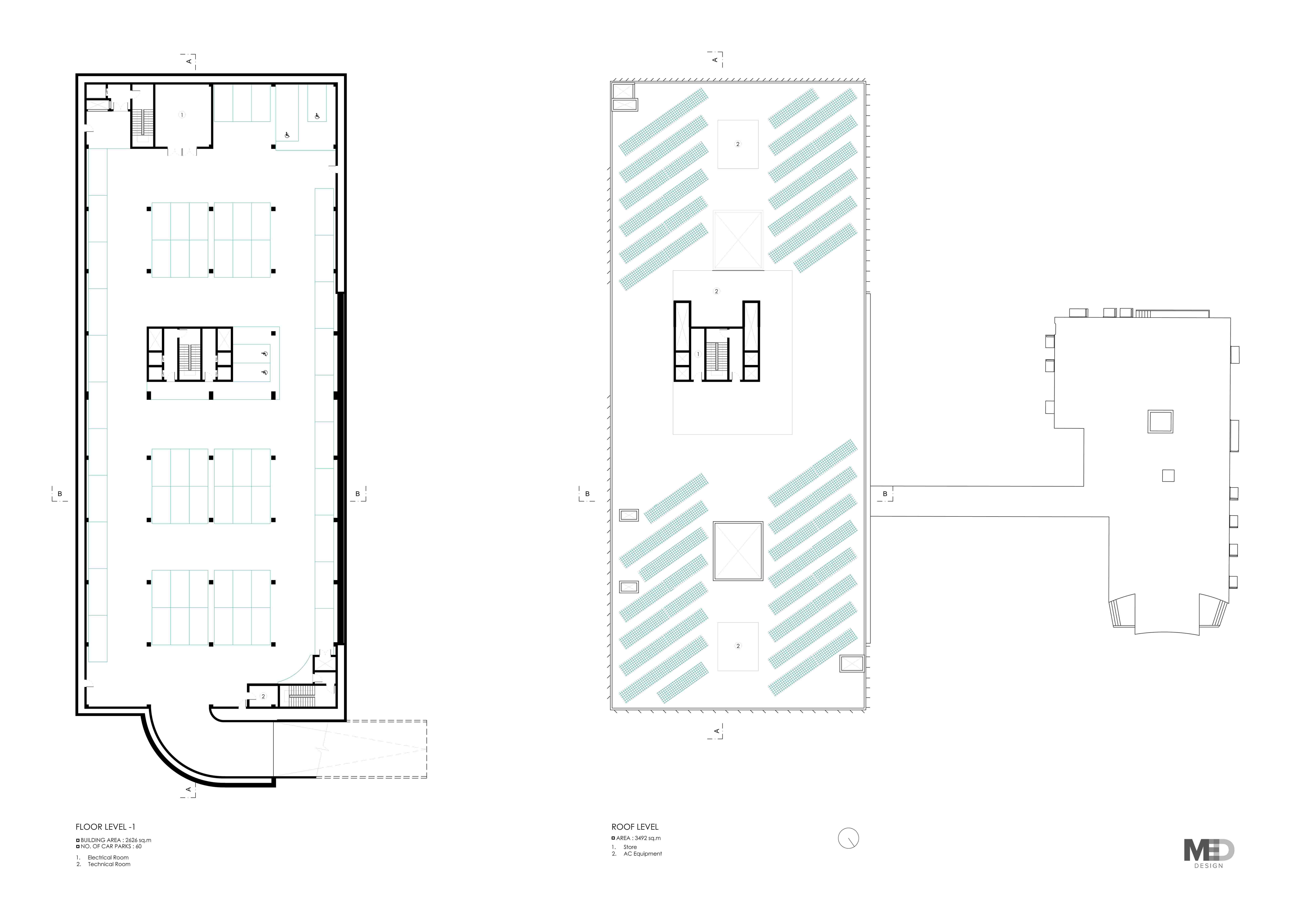 Basement & Roof Plans Claudia Gallo}