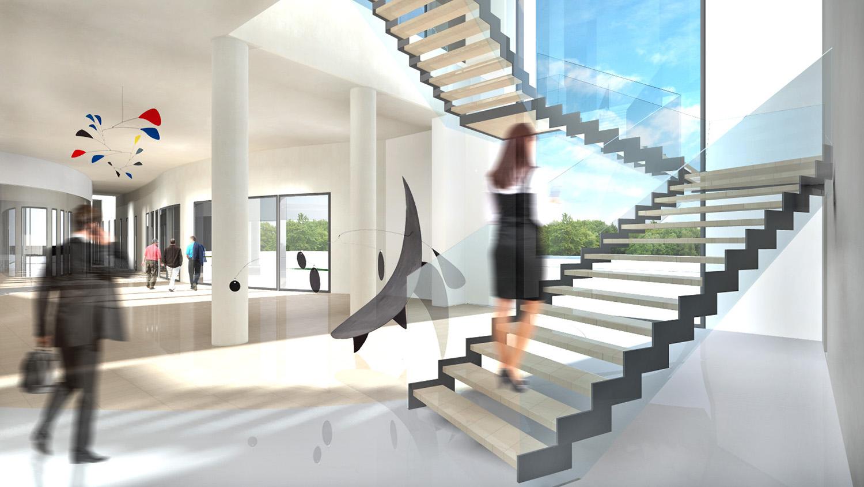 Hall and staircase view Tecnostudio srl}