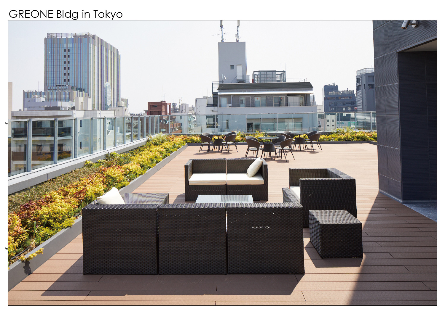 Rooftop open space Nacása & Partners Inc.}
