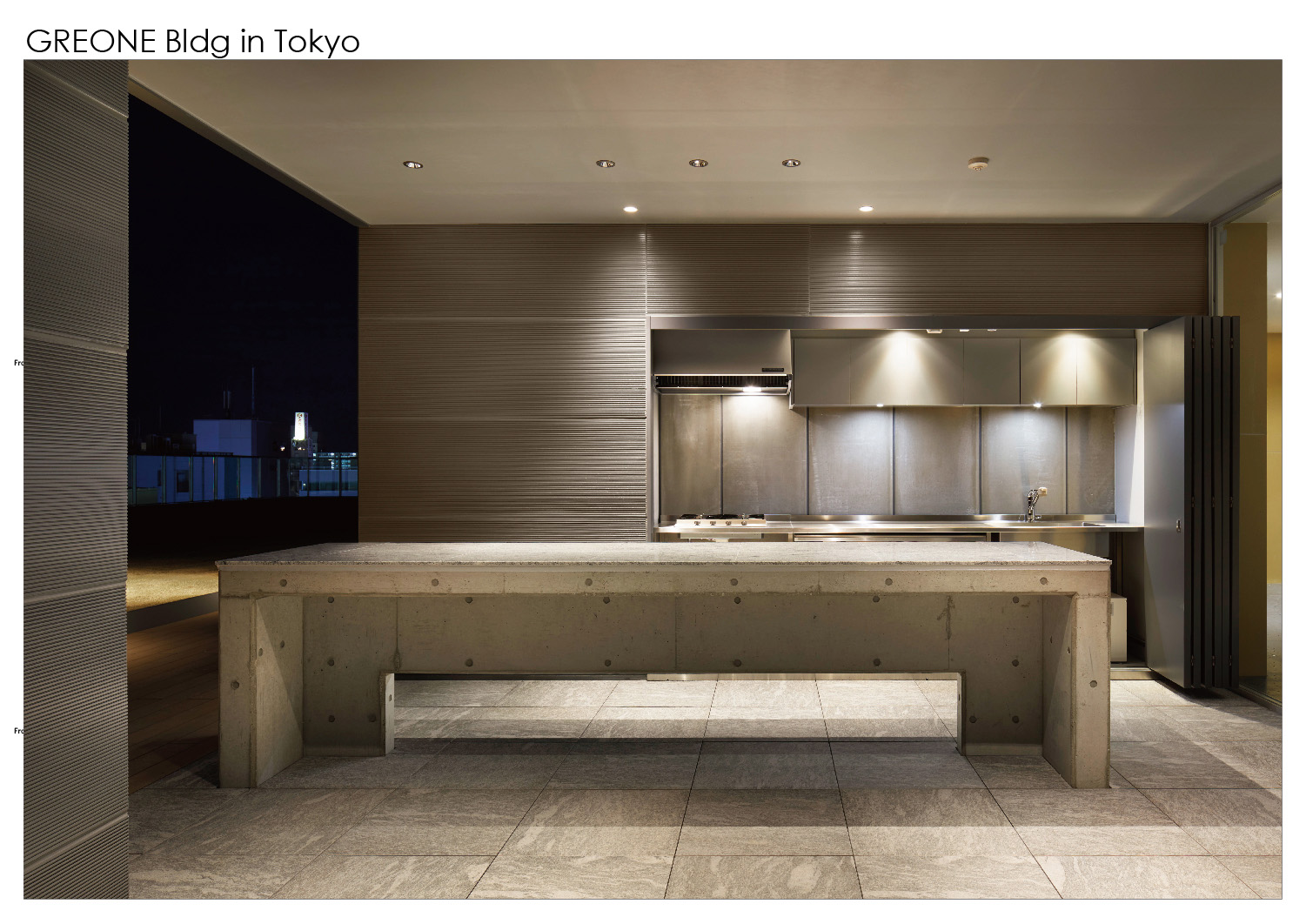 rooftop. Outdoor kitchen. Nacása & Partners Inc.}