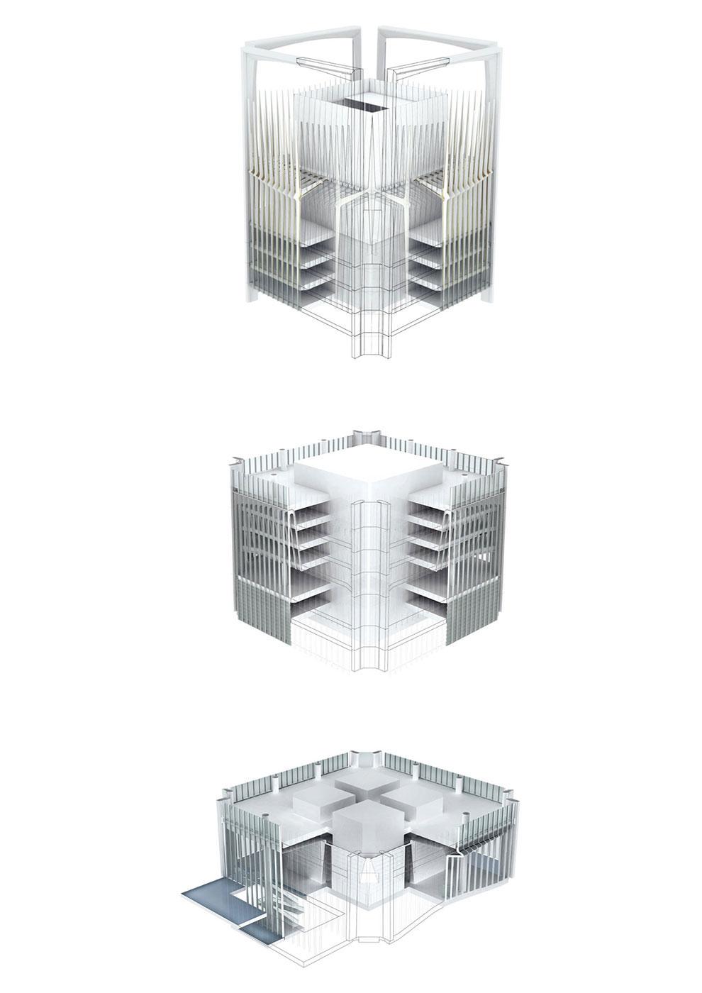 3d facade diagram Jaeger Kahlen Partners Architects Ltd.}