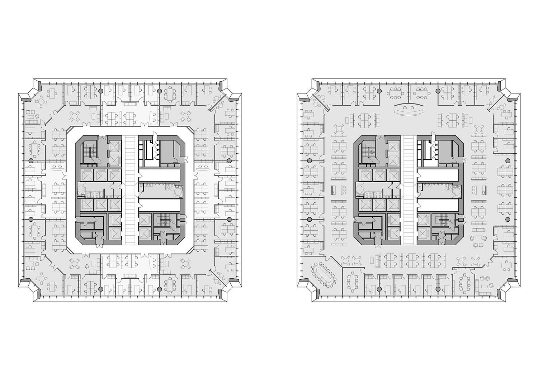 Office tower plans Jaeger Kahlen Partners Architects Ltd.}