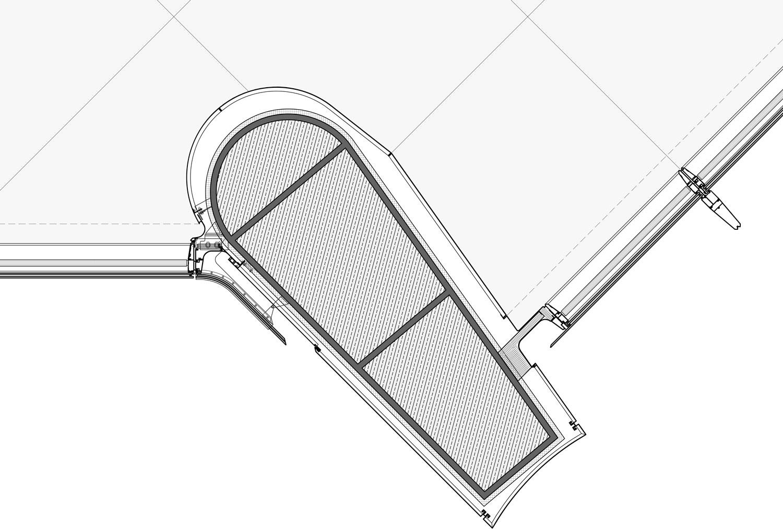 structural column detail Jaeger Kahlen Partners Architects Ltd.}