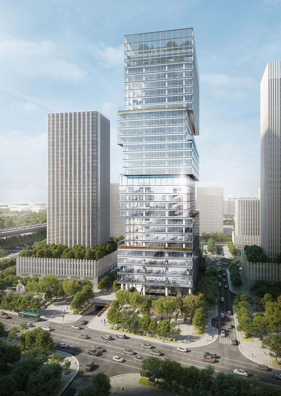 North Facade View Render Jaeger Kahlen Partners Architects Ltd.