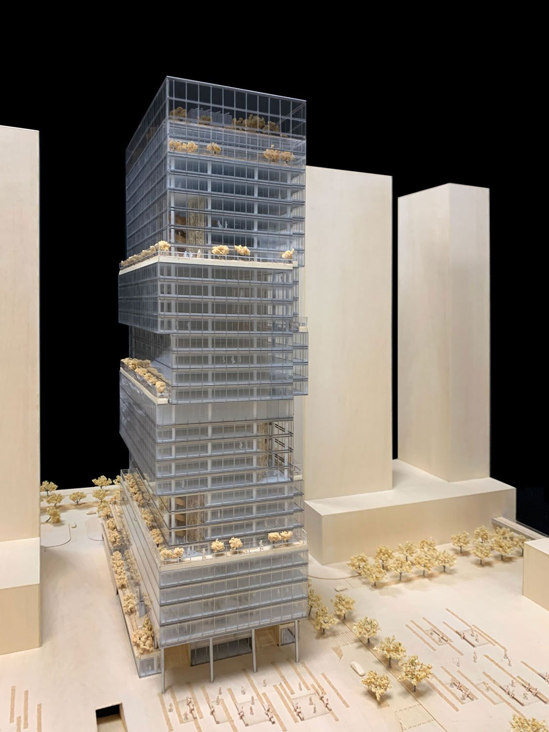 North Facade View Physical Model Jaeger Kahlen Partners Architects Ltd.