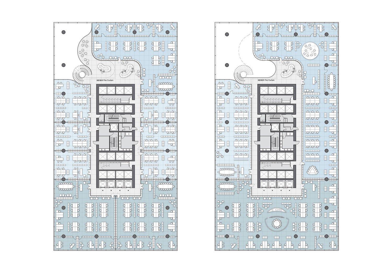Office Tower floor plan 01 Jaeger Kahlen Partners Architects Ltd.}