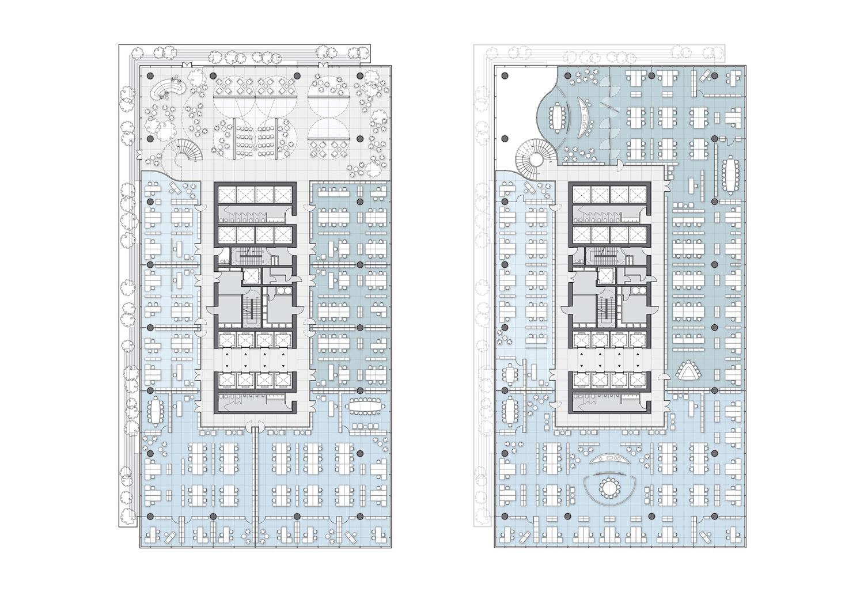 Office Tower floor plan 02 Jaeger Kahlen Partners Architects Ltd.}