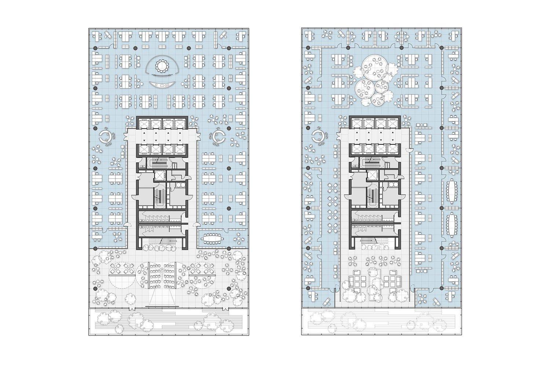 Office Tower floor plan 03 Jaeger Kahlen Partners Architects Ltd.}
