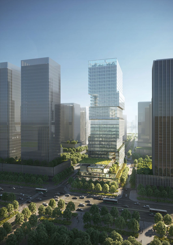 South Facade View Render Jaeger Kahlen Partners Architects Ltd.