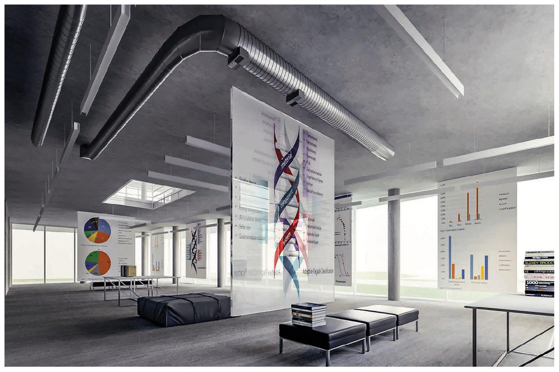 vista del piano terra, zona espositiva Riccardo Renzi, Mario De Stefano, Claudio Piferi, DIDA-UNIFI