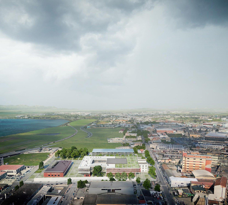 Vista da OVEST - Progetto Corvino+Multari