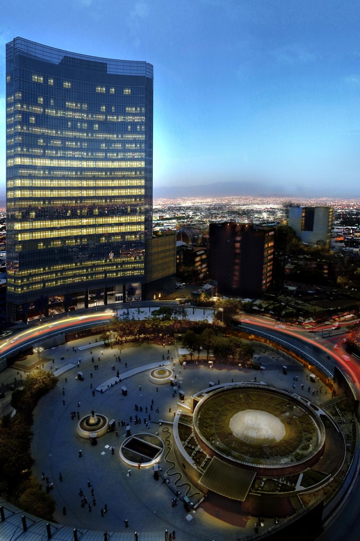 Tower Night Render Cimet Arquitectos}
