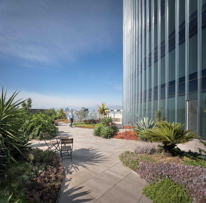 Glorieta de Insurgentes Tower_terrace Luis Gallardo