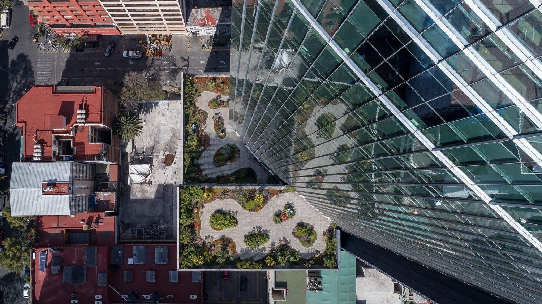 Glorieta de Insurgentes Tower_Garden Luis Gallardo