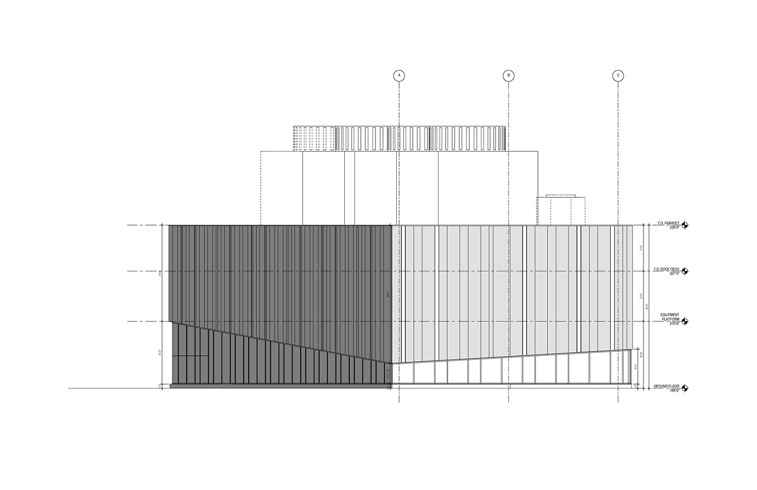 South Elevation of the UMass Amherst North Chiller Plant Leers Weinzapfel Associates}