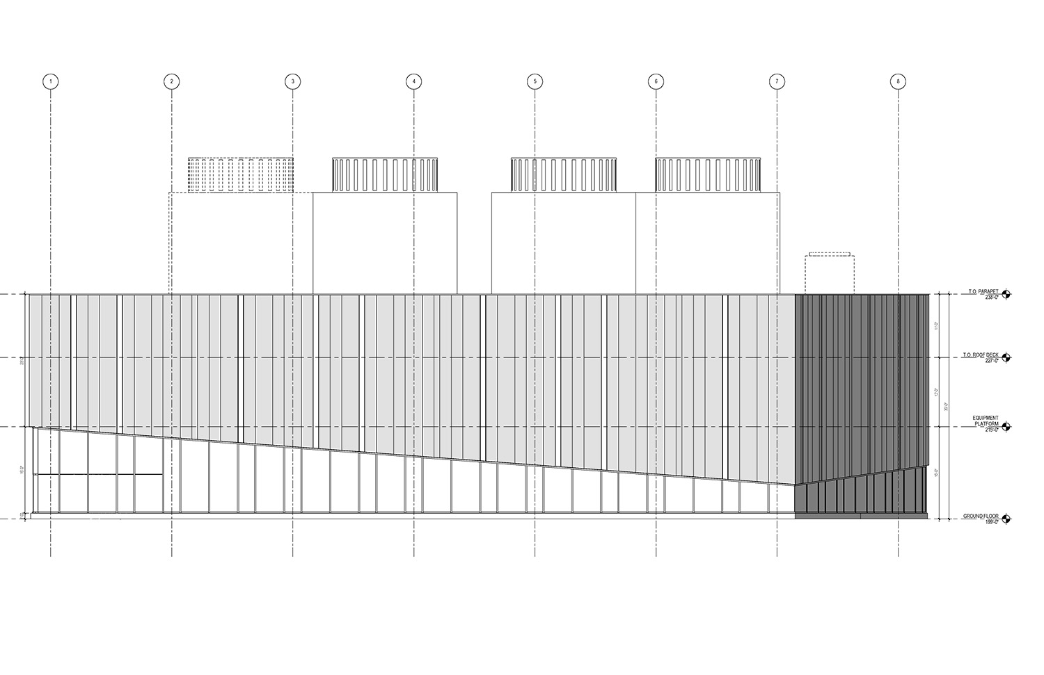 West Elevation of the UMass Amherst North Chiller Plant Leers Weinzapfel Associates}