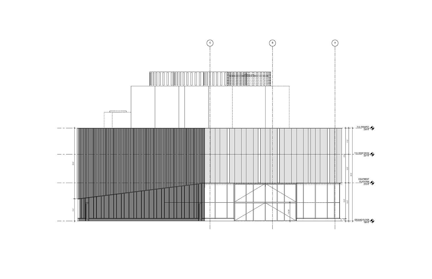 North Elevation of the UMass Amherst North Chiller Plant Leers Weinzapfel Associates}