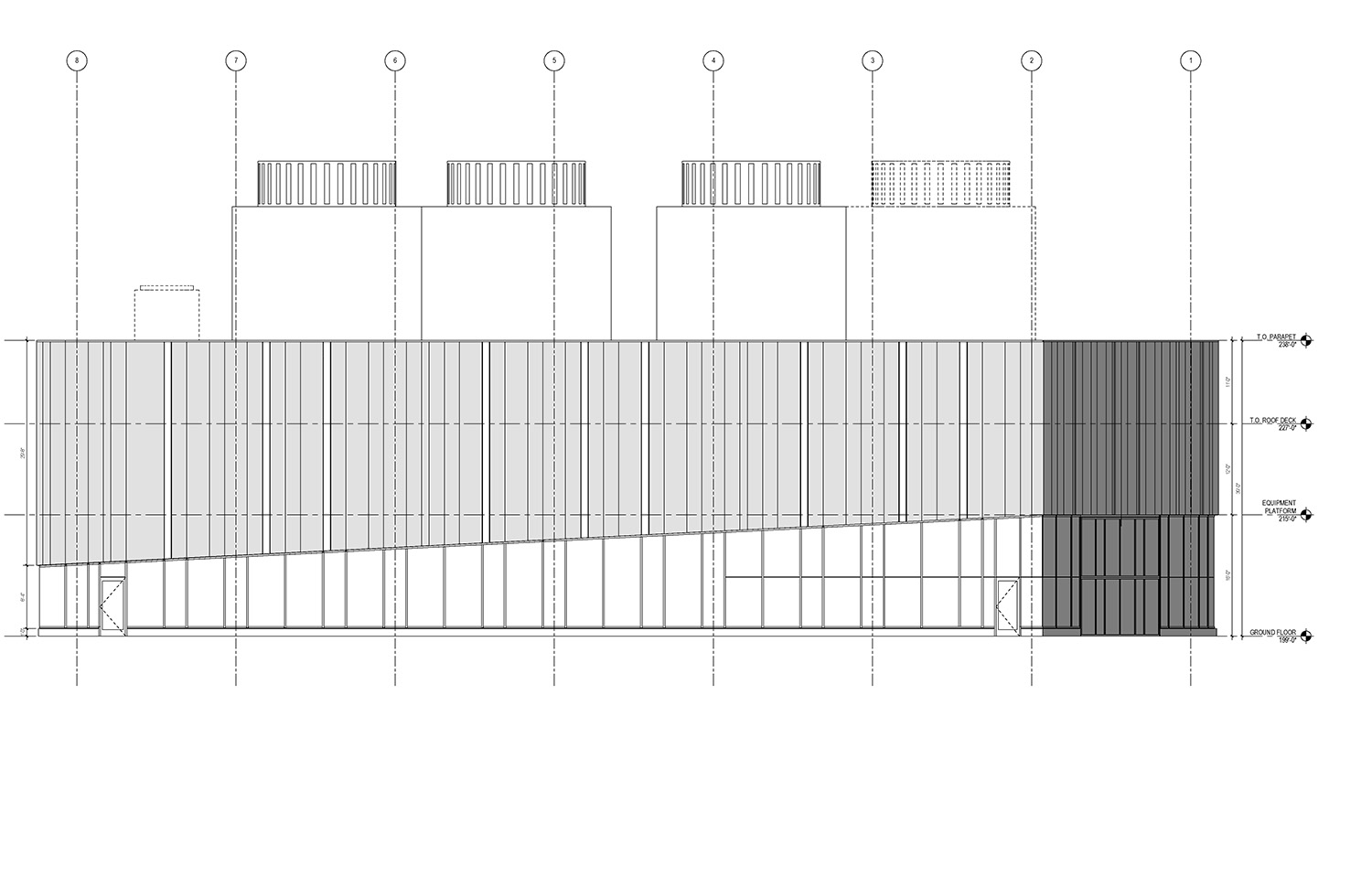 East Elevation of the UMass Amherst North Chiller Plant Leers Weinzapfel Associates}
