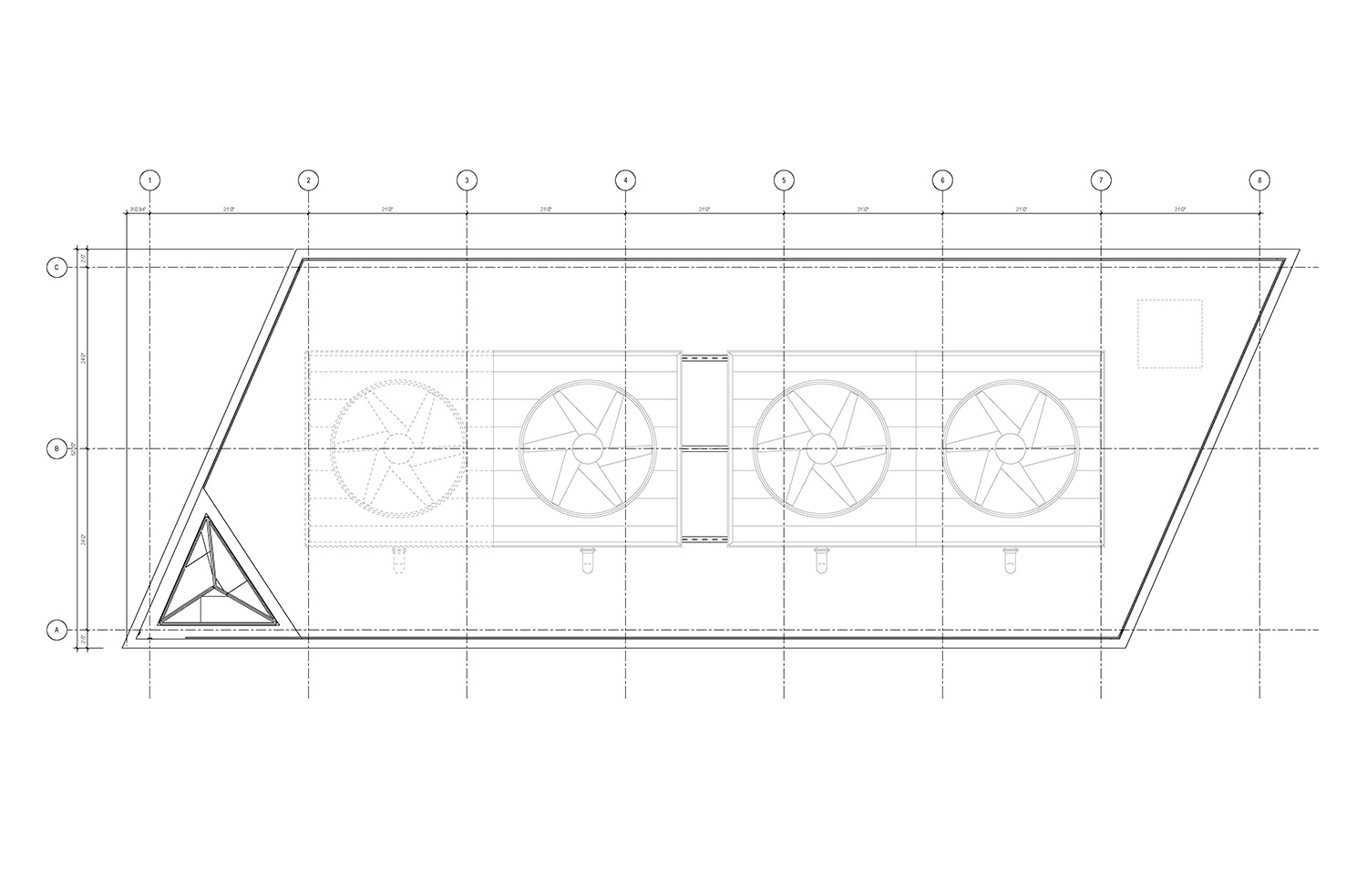 Upper Roof Plan of the UMass Amherst North Chiller Plant Leers Weinzapfel Associates}