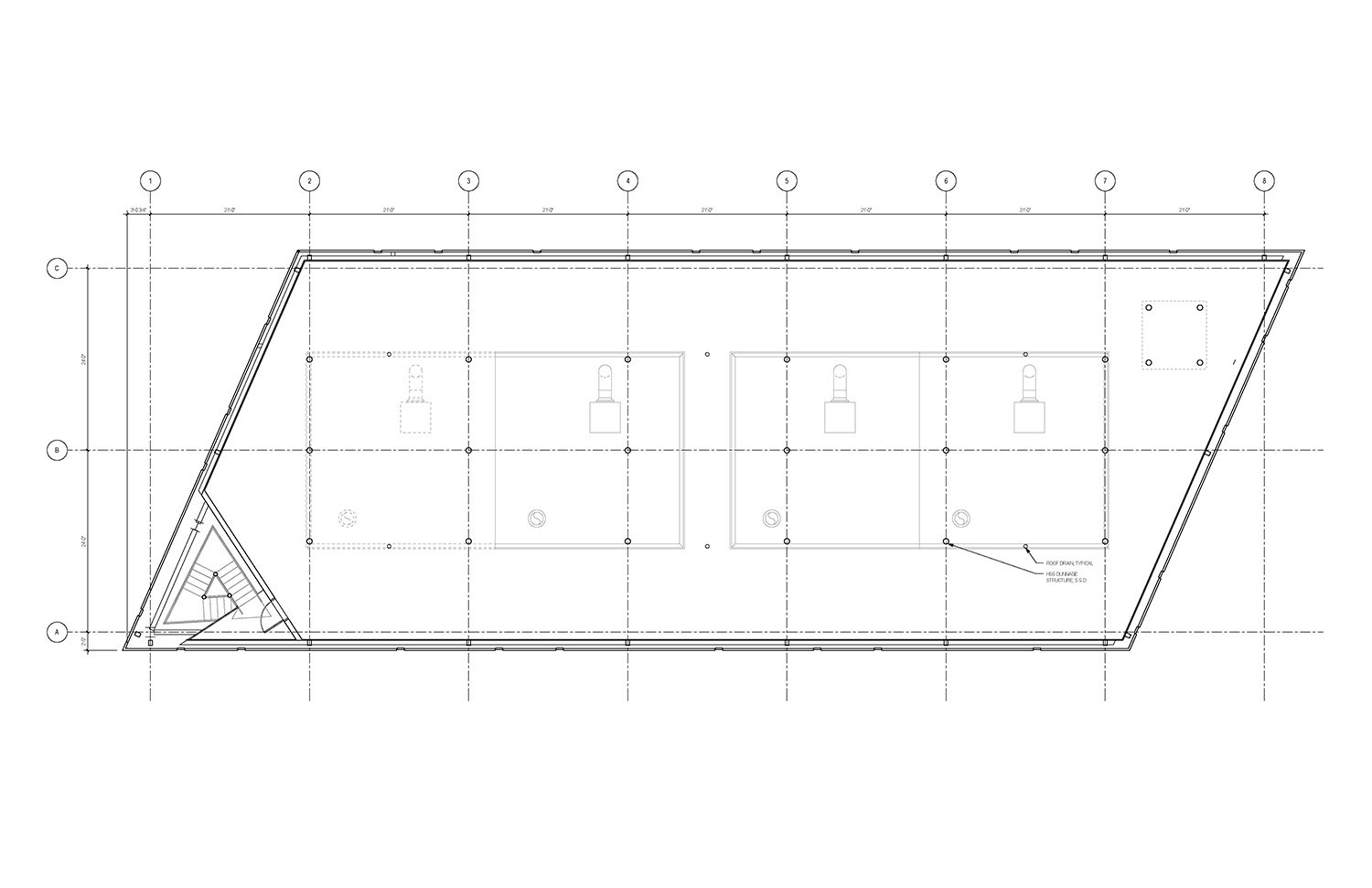 Roof Plan of the UMass Amherst North Chiller Plant Leers Weinzapfel Associates}