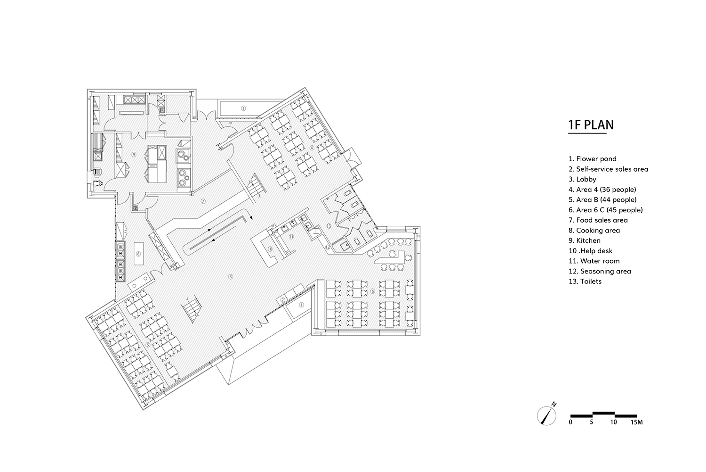 dining hall 1F plan gad · line+ studio}