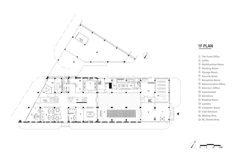 Complex Building 1F Plan gad · line+ studio}